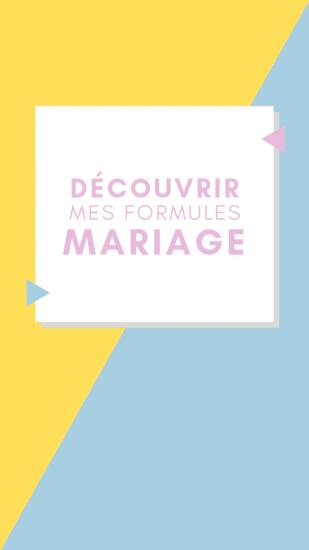 Découvrir mes formules personnalisés pour un mariage à votre goût